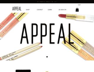 appealcosmetics.com screenshot