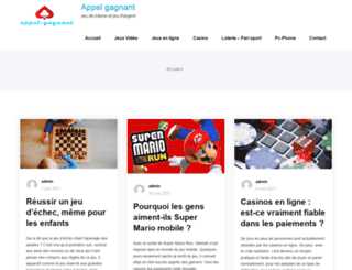 appel-gagnant.com screenshot