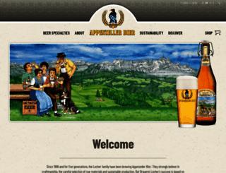 appenzellerbier.ch screenshot