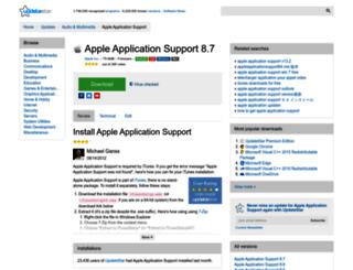apple-application-support.updatestar.com screenshot