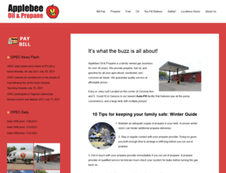 applebeeoil.com screenshot