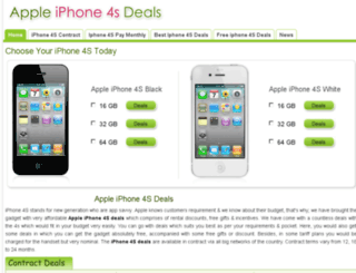 appleiphone4sdeals.co.uk screenshot