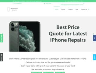 appleiphonerepaircanberra.com.au screenshot