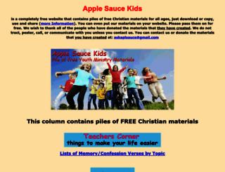 applesaucekids.com screenshot