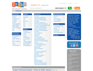 appleton-wi.geebo.com screenshot