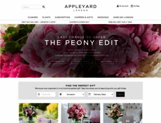 appleyardflowers.com screenshot