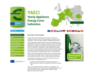appliance-energy-costs.eu screenshot