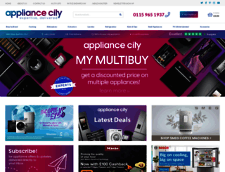 appliancecity.co.uk screenshot