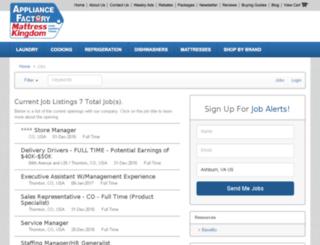 appliancefactory.applicantpro.com screenshot
