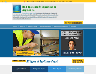 appliancerepairlosangeles.org screenshot