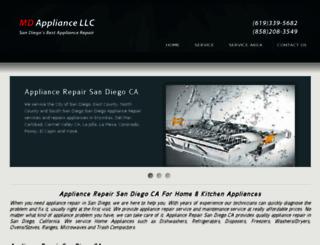 appliancerepairsandiegoca.com screenshot