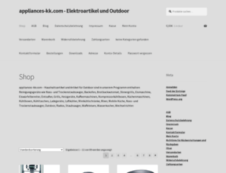 appliances-kk.com screenshot