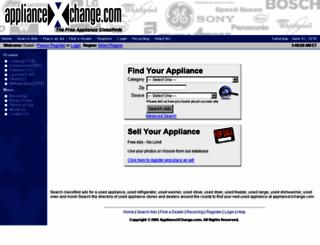 appliancexchange.com screenshot