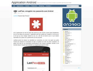 applicationandroid.fr screenshot
