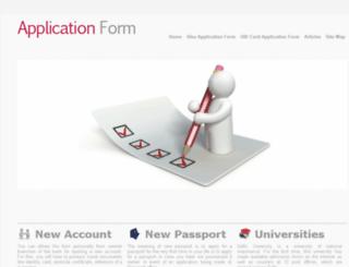 applicationform.net.in screenshot