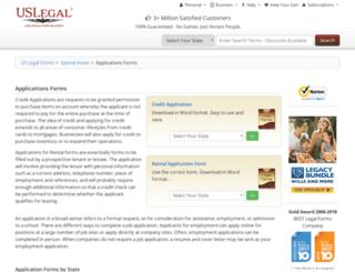 applicationforms.com screenshot