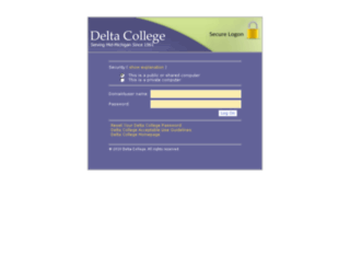 applications.delta.edu screenshot