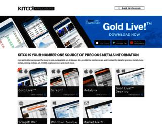 applications.kitco.com screenshot