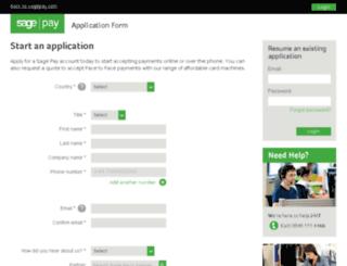 applications.sagepay.com screenshot