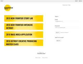 applications.sundance.org screenshot
