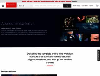 appliedbiosystems.com screenshot