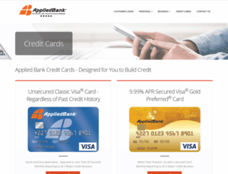 appliedcardbank.com screenshot