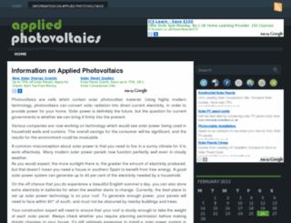 appliedphotovoltaics.co.uk screenshot
