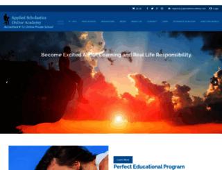 appliedscholasticsonline.com screenshot