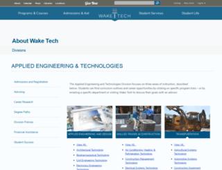appliedtechnologies.waketech.edu screenshot