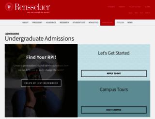 apply-undergrad.rpi.edu screenshot