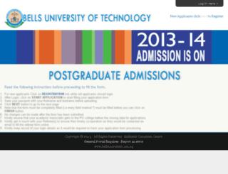 apply.bellsuniversity.edu.ng screenshot