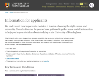apply.bham.ac.uk screenshot