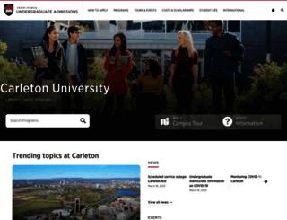 apply.carleton.ca screenshot