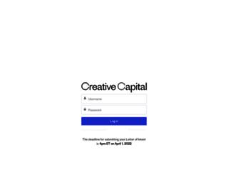 apply.creative-capital.org screenshot