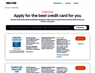 apply.discover.com screenshot