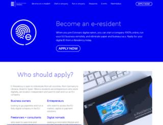 apply.e-estonia.com screenshot