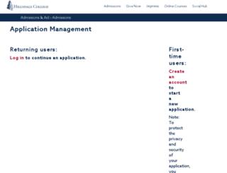 apply.hillsdale.edu screenshot