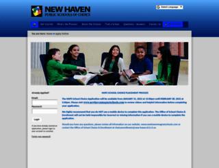 apply.newhavenmagnetschools.com screenshot