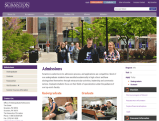 apply.scranton.edu screenshot