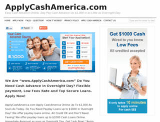 applycashamerica.com screenshot
