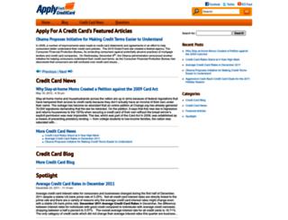 applyforacreditcard.com screenshot