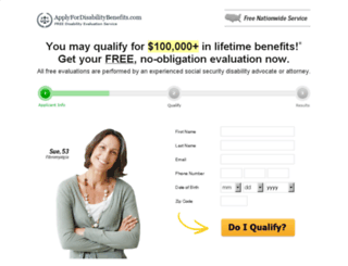 applyfordisabilitybenefits.com screenshot