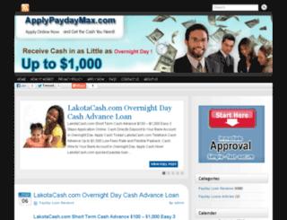 applypaydaymax.com screenshot