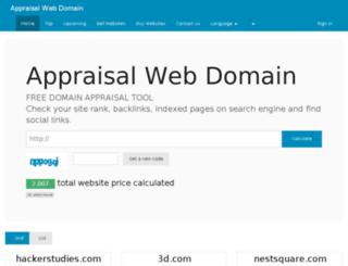 appraisalwebdomain.com screenshot