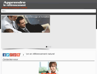 apprendre-le-referencement.com screenshot