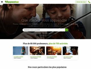 apprentus.fr screenshot