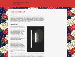 appropriationart.ca screenshot