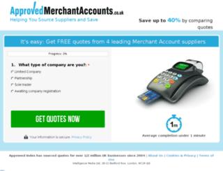 approvedmerchantaccounts.co.uk screenshot