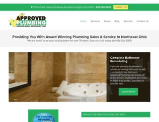 approvedplumbing.com screenshot