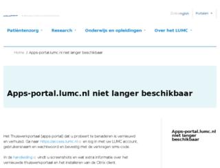 apps-portal.lumc.nl screenshot